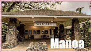 Manoaにある最高に気持ちのいいカフェ